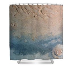 Red Planet 1 Shower Curtain