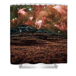 Red Planet Shower Curtain by Semmick Photo