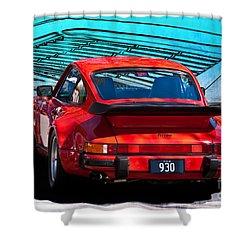 Red Porsche 930 Turbo Shower Curtain
