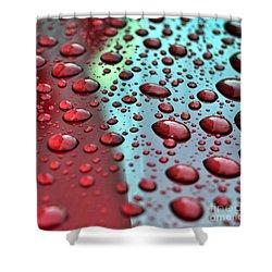 Red Rain Shower Curtain