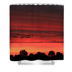 Red Red Sunrise Shower Curtain