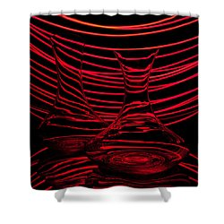 Red Rhythm II Shower Curtain by Davorin Mance