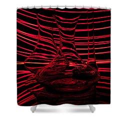 Red Rhythm IIi Shower Curtain by Davorin Mance