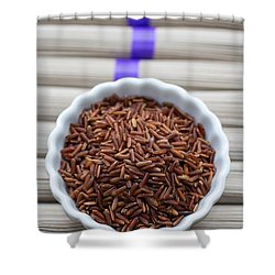 Red Rice Shower Curtain by Edward Fielding