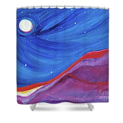 Shower Curtain featuring the painting Red Ridge By Jrr by First Star Art