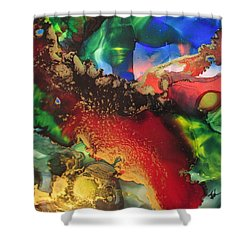 Red River Gold Shower Curtain by Kathy Sheeran
