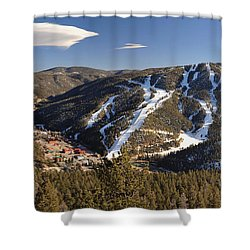 Red River In Spring Shower Curtain