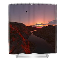 Red River... Shower Curtain