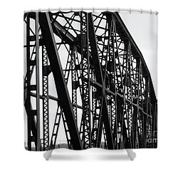 Shower Curtain featuring the photograph Red River Train Bridge #4 by Robert ONeil