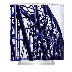 Shower Curtain featuring the photograph Red River Train Bridge #5 by Robert ONeil