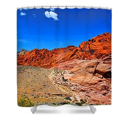 Red Rock Canyon Shower Curtain by Mariola Bitner