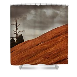 Shower Curtain featuring the photograph Red Rock by Dana DiPasquale
