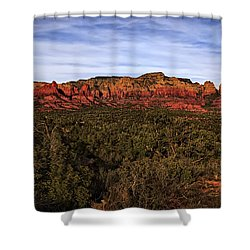 Shower Curtain featuring the photograph Red Rock Golden Hour 26 by Mark Myhaver