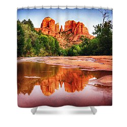 Red Rock State Park - Cathedral Rock Shower Curtain