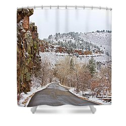 Red Rock Winter Drive Shower Curtain by James BO  Insogna