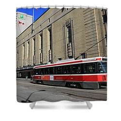 Red Rocket 23 Shower Curtain by Andrew Fare