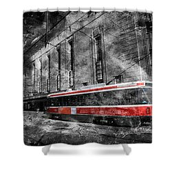 Red Rocket 23d Shower Curtain by Andrew Fare