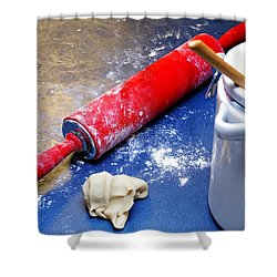 Red Rolling Pin Shower Curtain