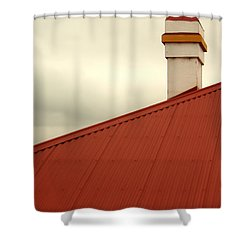Red Roof Shower Curtain by Kaleidoscopik Photography