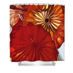Shower Curtain featuring the digital art Red Rose by Kirt Tisdale