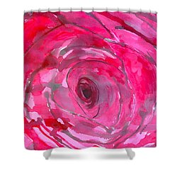Red Rose Shower Curtain by Melissa Torres