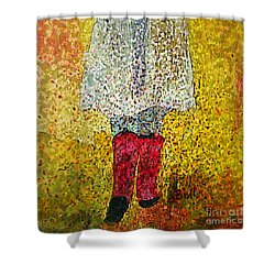 Red Rubber Boots Shower Curtain