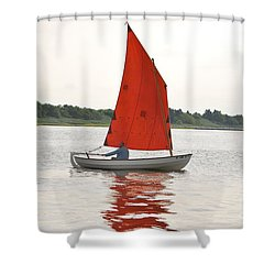 Red Sails Shower Curtain by Bob Sample