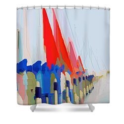 Red Sails In The Sunset Shower Curtain