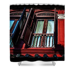 Red, Singapore Shower Curtain