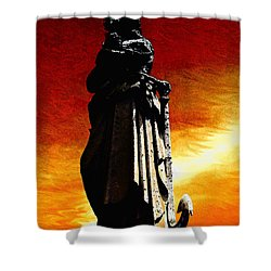 Red Sky At Night Angel Of The Sea Shower Curtain
