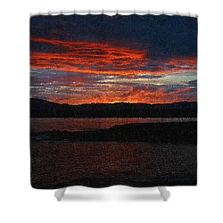 Red Sky At Night Shower Curtain by Bruce Nutting