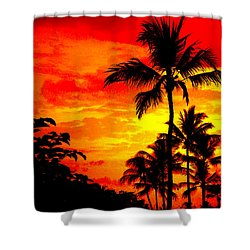 Shower Curtain featuring the photograph Red Sky At Night by David Lawson