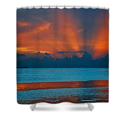 Tropical Florida Keys Red Sky At Night Shower Curtain