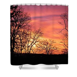 Red Sky At Night Sailor's Delight Shower Curtain