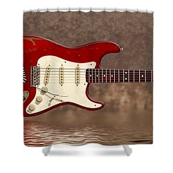 Red Strat 3 Shower Curtain