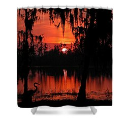 Red Swamp Shower Curtain