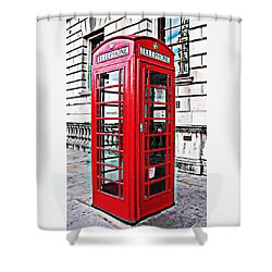 Red Telephone Box Call Box In London Shower Curtain