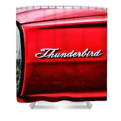 Red Thunderbird Shower Curtain by Bill Cannon