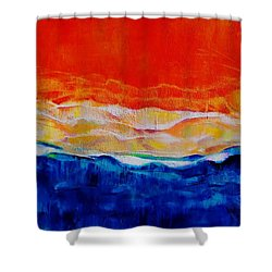 Red Tide Effect Shower Curtain by Jean Cormier
