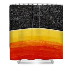 Red To Yellow Spacescape Shower Curtain