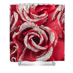 Shower Curtain featuring the photograph Red Valentines Day Roses by Gunter Nezhoda