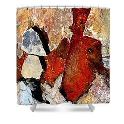 Red Veins Shower Curtain