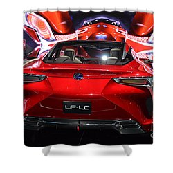 Red Velocity Shower Curtain by Randy J Heath