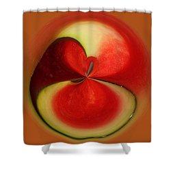 Red Watermelon Shower Curtain by Cynthia Guinn