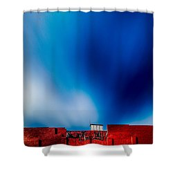 Red White And Blue Shower Curtain by Bob Orsillo