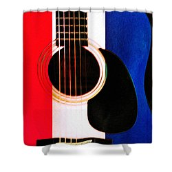 Red White And Blues Shower Curtain by Bill Cannon
