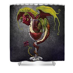 Shower Curtain featuring the digital art Red Wine Dragon by Stanley Morrison