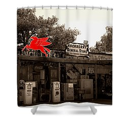 Red Winged Horse Shower Curtain