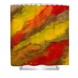 Red Yellow Gold Abstract Shower Curtain