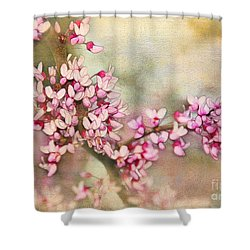 Welcome Spring Shower Curtain by Judi Bagwell